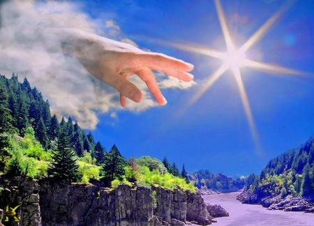 mão nuvem